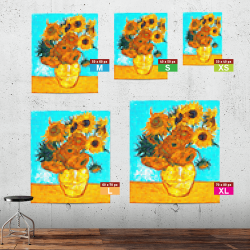 The sunflowers in-situ XS to XL
