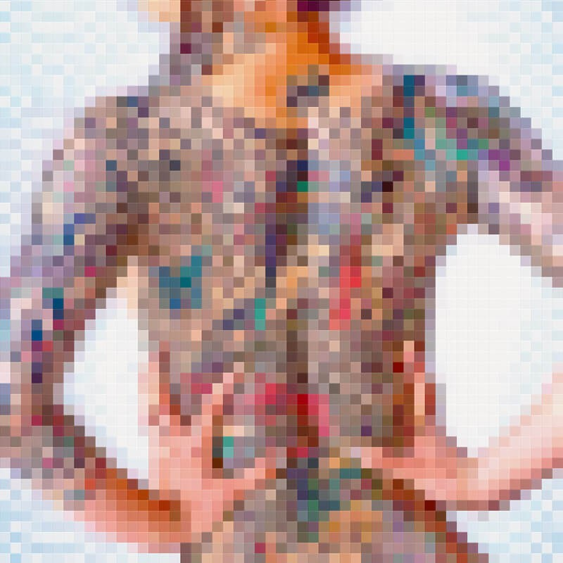 Artwork Pixel Art Woman Tattoo Pixitlab