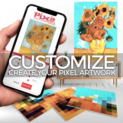 Customize your work in pixel-art with our PIXITlab tool