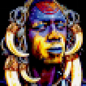 Artwork pixelized - Tribal Warrior