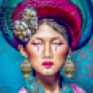 Tableau en pixel-art - Asian Girl