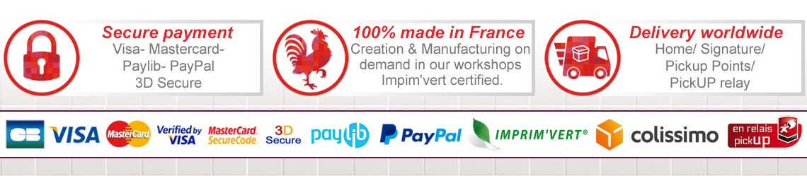 Simple and secure payment - Designed and made in France - Delivery 3 to 5  working days