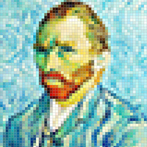 Artwork pixelized - Van Gogh
