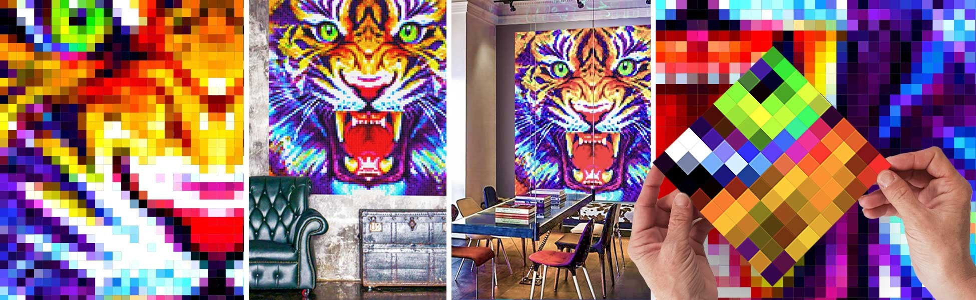 Choose an animal atmosphere with this Tiger artwork !
