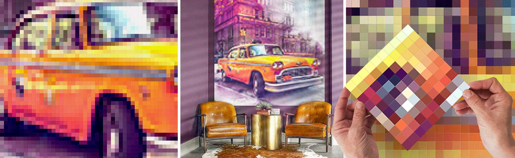 Integrate a New York pixelized decoration into your interior for a modern touch more urban than ever...