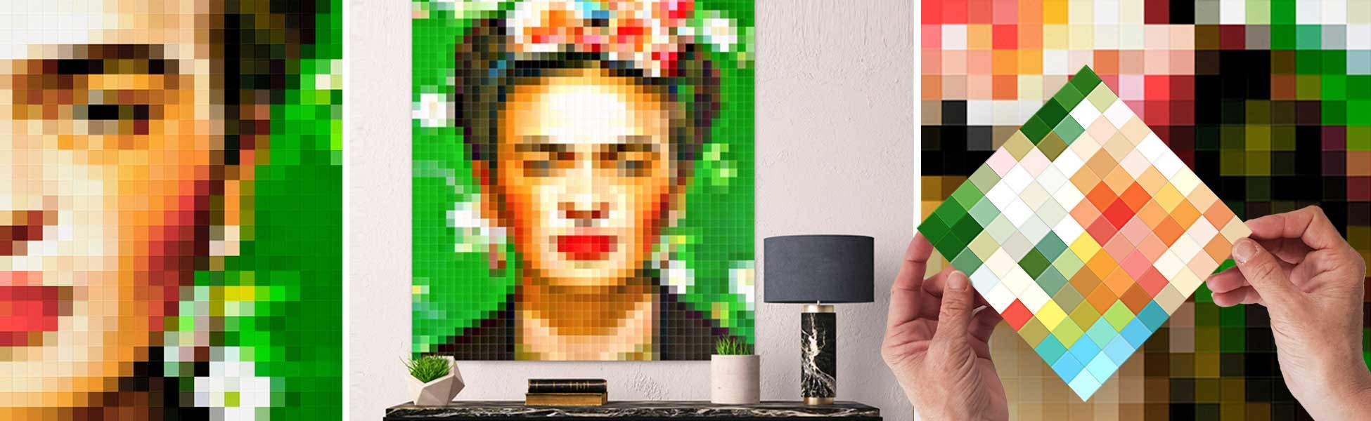 Artworks by Frida Kahlo in pixel art